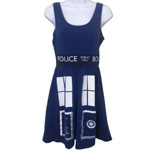 Her Universe Doctor Who Tardis Police Box Dress S